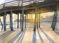 Sunset under Pier by Chad Hunter Med