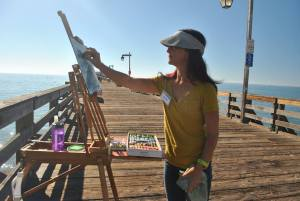 pastel-artist-sandra-cherk-painted-on-capitola-pier-at-capitola-plein-air-2015